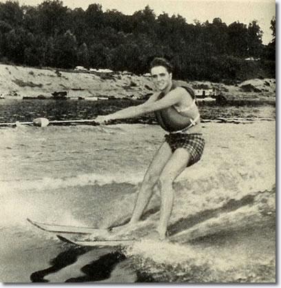 Elvis Presley Water Skiing, McKellar Lake, July 1955