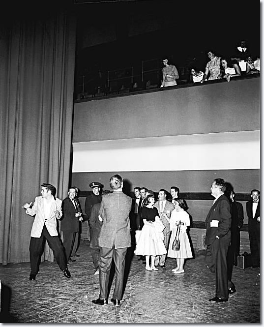 Elvis Presley: June 3, 1956 - on stage at the Oakland Auditorium