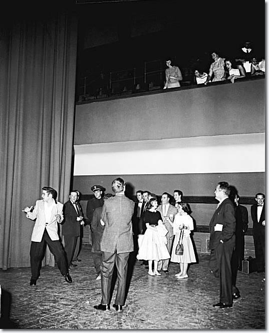 Elvis Presley: June 3, 1956 - on stage at the Oakland Auditorium