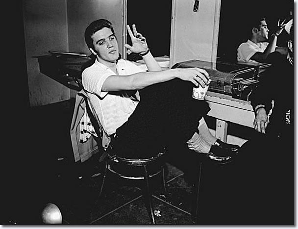 Elvis Presley: June 3, 1956 - Backstage at the Oakland Auditorium