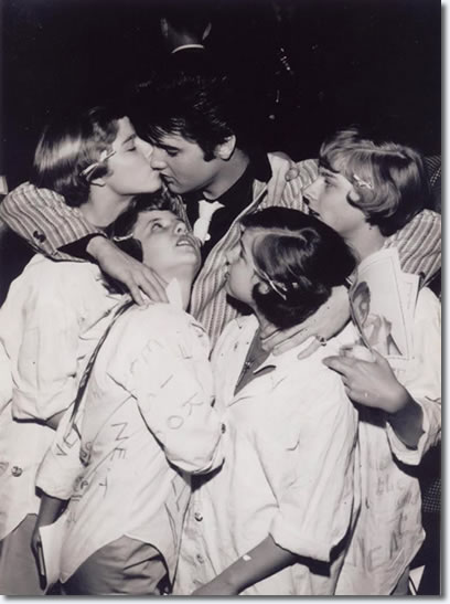 Elvis Presley in St. Louis March 1957, with some local fans