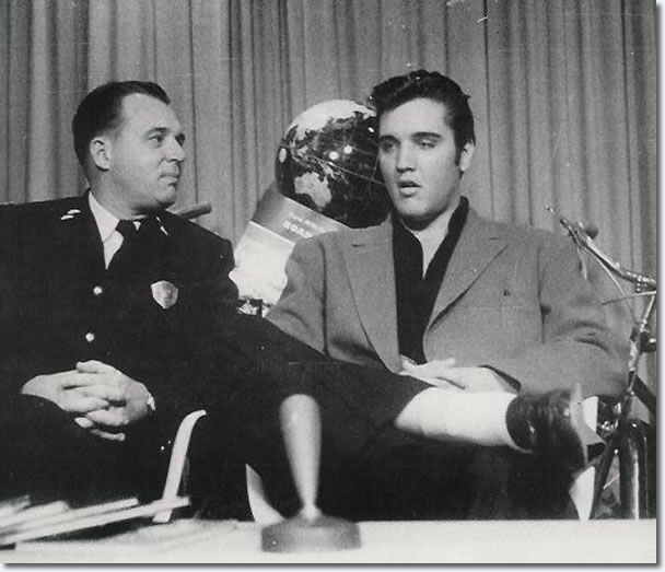 This photo is of Elvis is from Memphis Sept 20, 1957 WKNO-TV 'Safety Hit Parade' - Note the world globe behind Elvis, showing Australia.