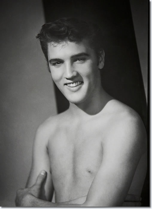 Elvis Presley: Photo by William Speer : Elvis was home on vacation in July 1955.