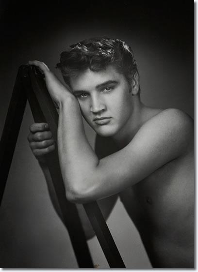 Elvis Presley: Photo by William Speer : Elvis was home on vacation in July 1955.