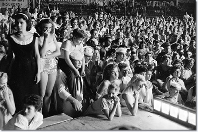 Russwood Park, Memphis, Tennessee : July 4, 1956.