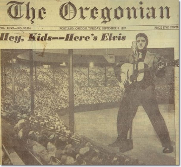 The Front page of 'The Oregonian' : September 3, 1957.