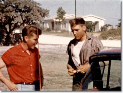 Buddy Knox and Elvis Presley