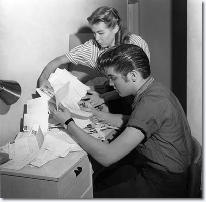 Judy Spreckels and Elvis Presley