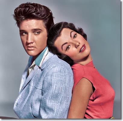 Elvis Presley and Judy Tyler