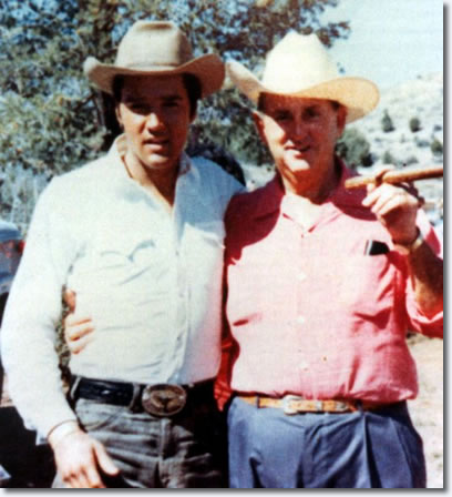 Elvis Presley and Colonel Tom Parker - Set of Stay Away Joe