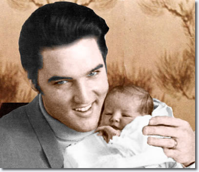 Elvis with baby, Lisa Marie