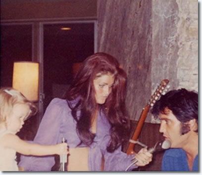 Priscilla, Elvis and Lisa Marie Presley