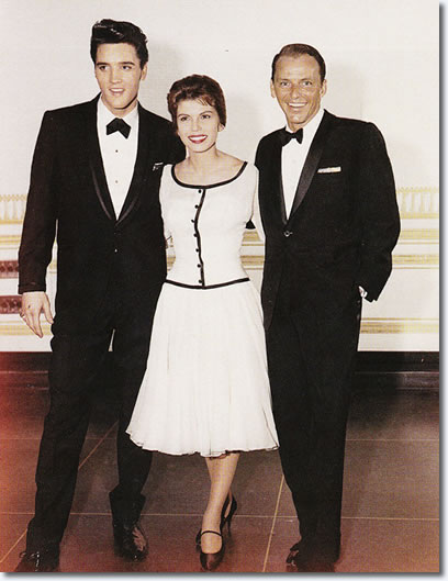 Elvis Presley, Nancy Sinatra, Frank Sinatra : March 26, 1960 : Fontainebleau Hotel.