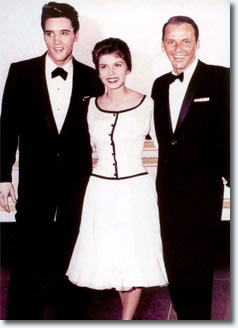 Elvis Presley, Nancy and Frank Sinatra