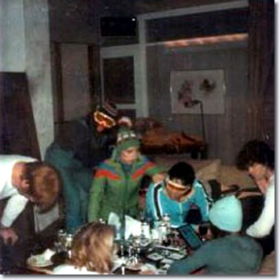 Elvis and friends at Vail in Colorado.