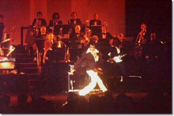 Elvis giving Karate demonstration at a Tom Jones Concert