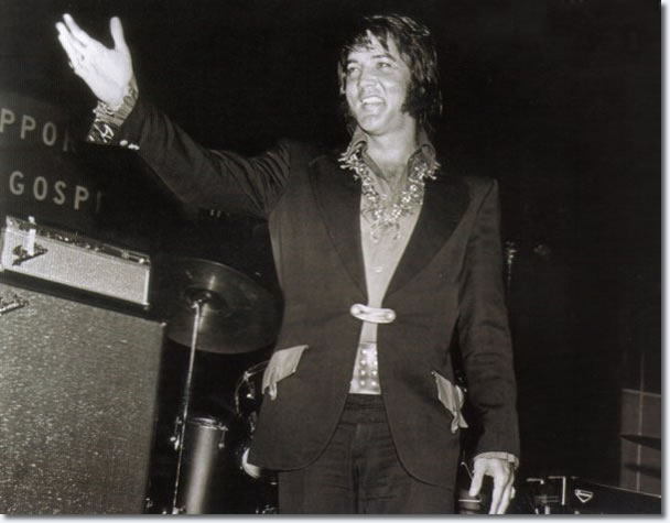 Elvis Presley Introduced at a Gospel Convention, sometime in the fall of 1972