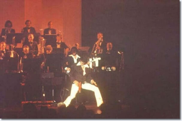 Elvis giving Karate demonstration at a Tom Jones Concert
