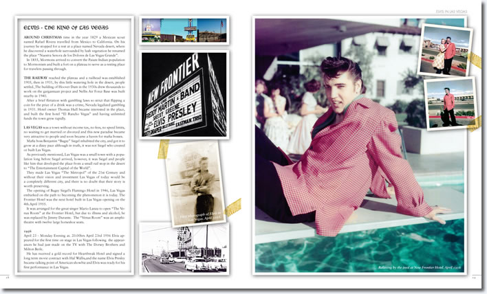 A preview of the new Elvis - The King Of Las Vegas photo book.