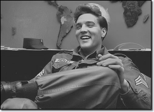 Elvis Presley Pictured during his interview for Stars And Stipes magazine - 1959