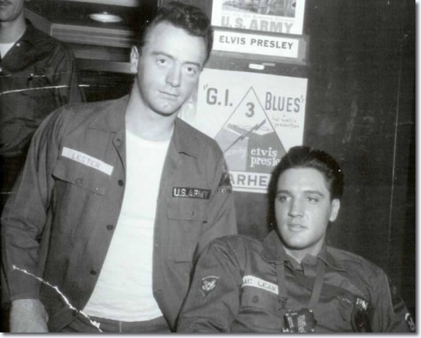 Red West and Elvis Presley : On the set of G.I. Blues.