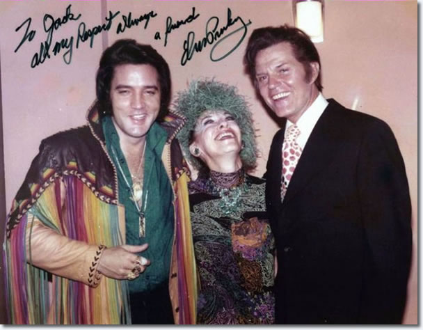 Elvis Presley, Marie and Jack Lord, Las Vegas February 10, 1973.
