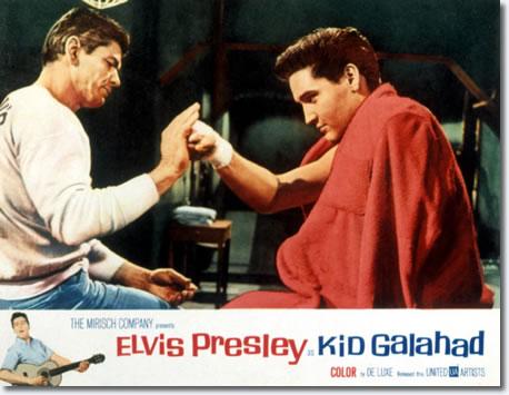 Kid Galahad US Lobby Card featuring Charles Bronson and Elvis Presley.