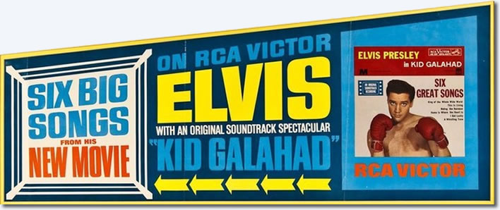 Original RCA Banner Poster advertising the soundtrack EP for Kid Galahad.
