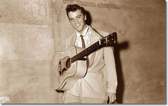 Elvis on August 5, 1955 at the Overton Park Shell in Memphis, TN.