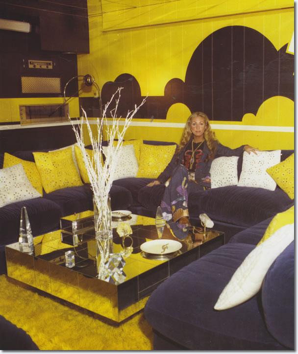 Linda Thompson in the 'TV Room, 1974.