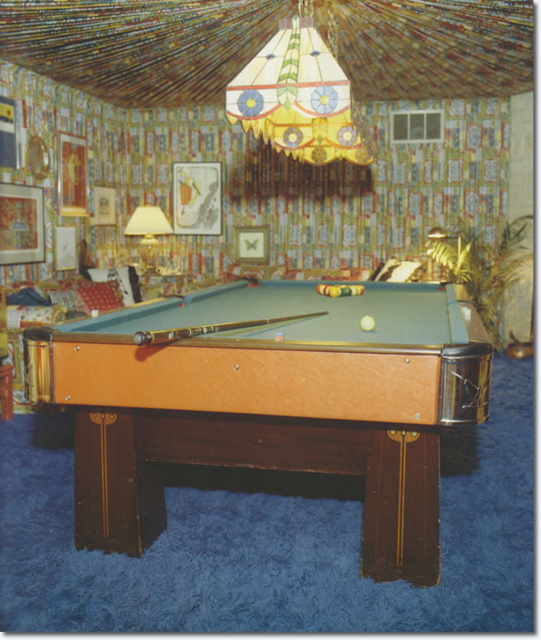 Elvis Presleys Pool Table, 1974.