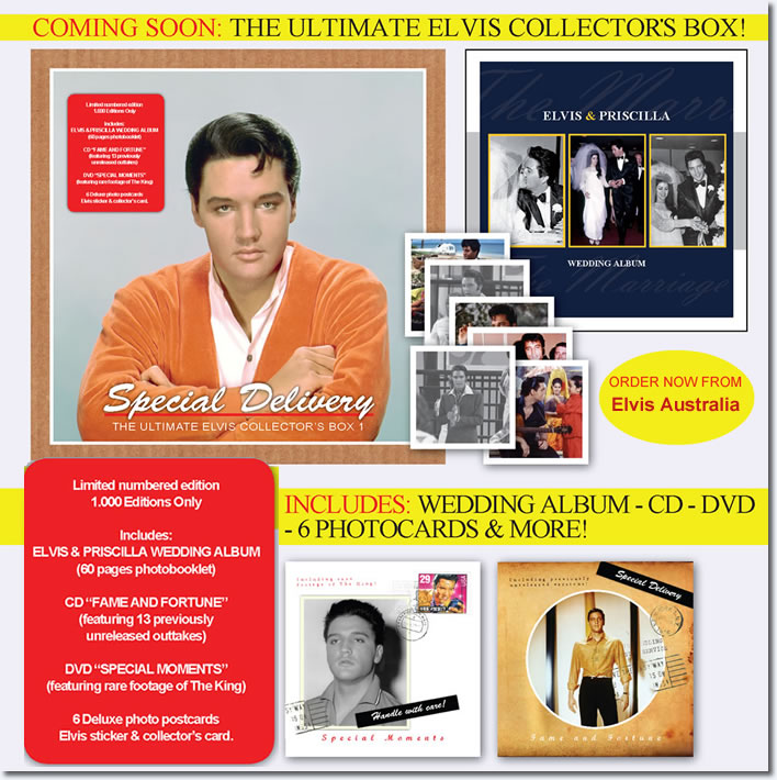Special Delivery : The Ultimate Elvis Presley Collectors Box : Book / DVD / CD / Memorabilia.
