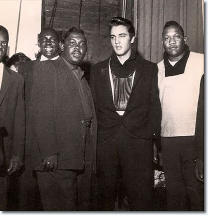 Little Junior Parker, Elvis Presley, Bobby Blue Bland at the WDIA Goodwill Revue December 7, 1957.