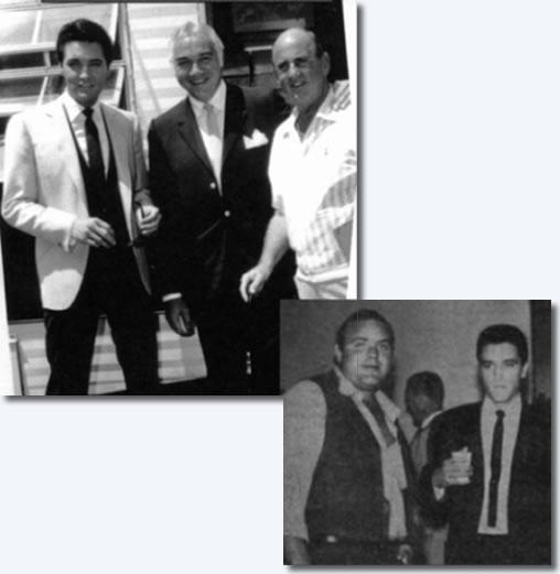 Elvis Presley with Lorne Green and Dan Blocker (Bonanza)