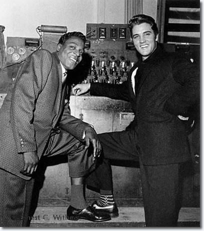 Elvis Presley and Brook Benton