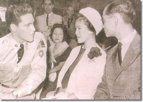 The King and Queen of Thailand meet Elvis Presley, the King of Rock & Roll