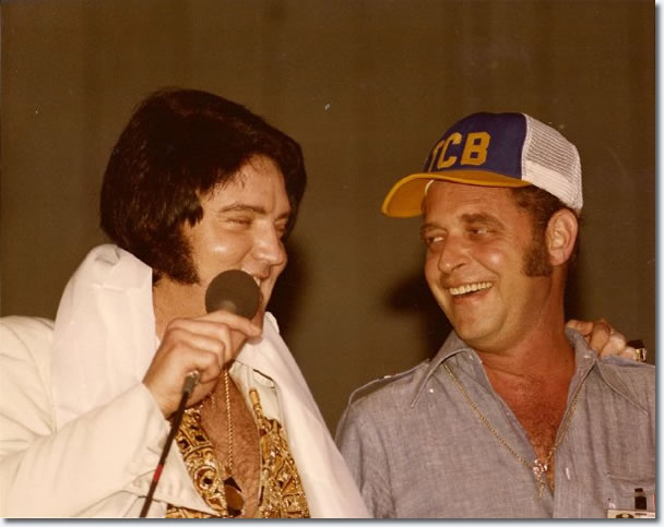 Elvis Presley and Felton Jarvis 1977.