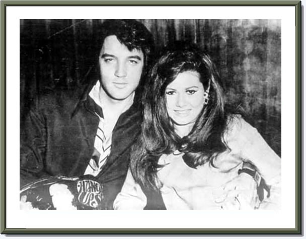 Elvis Presley and Jeannie C. Riley [Harper Valley PTA]. August 1969.