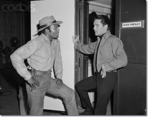 Jim Brown with Elvis Presley