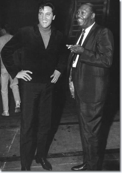 Junior Parker and Elvis Presley Hollywood Movie Set, 1960s.