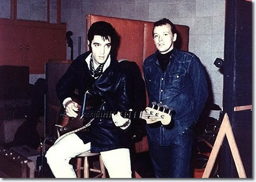 Elvis Presley and Chips Moman at American Studios 1969