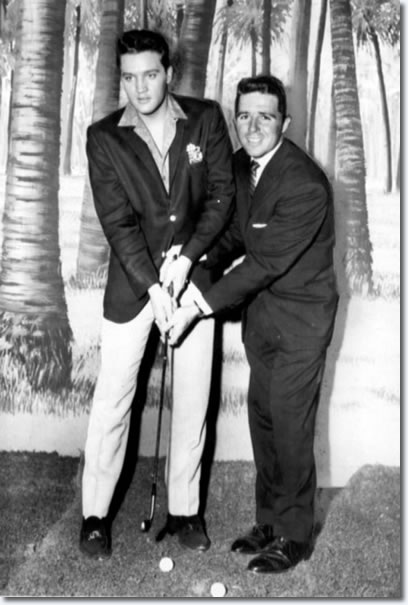 Elvis Presley and Gary Player