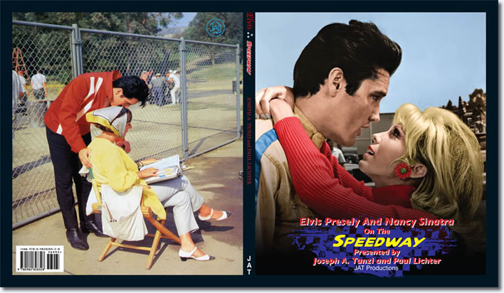 Back cover / Front Cover : Elvis Presley And Nancy Sinatra On The Speedway.