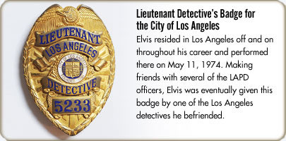 Lieutenant Detective Badge for the City of Los Angeles