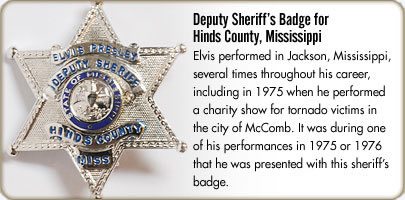 Deputy Sheriff's badge for Hinds County, Mississippi
