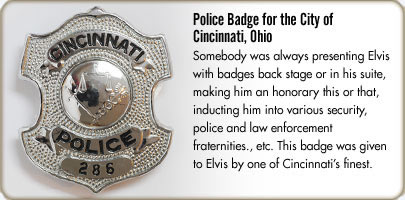 Police Badge for the City of Cincinnati, Ohio