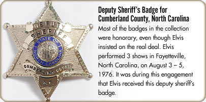 Deputy Sheriff's Badge for Cumberland County, North Carolina