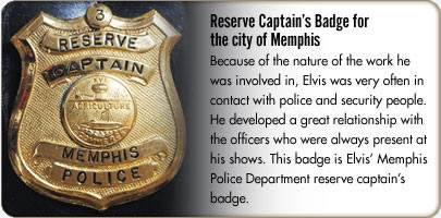 Reserve Captain's Badge for the city of Memphis