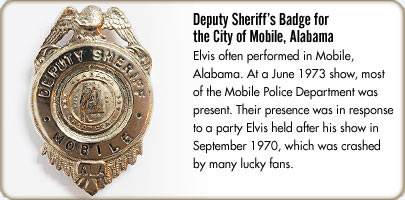Deputy Sheriff's Badge for the city of  Mobile, Alabama