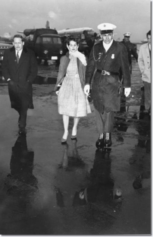 Priscilla Beaulieu in Wiesbaden, Germany, on March 2, 1960